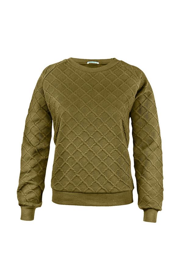 Пуловер SabellinoПуловеры<br><br><br>Размер RU: 46-48<br>Пол: Женский<br>Возраст: Взрослый<br>Материал: полиэстер 52%, хлопок 46%, спандекс 2%<br>Цвет: Зелёный