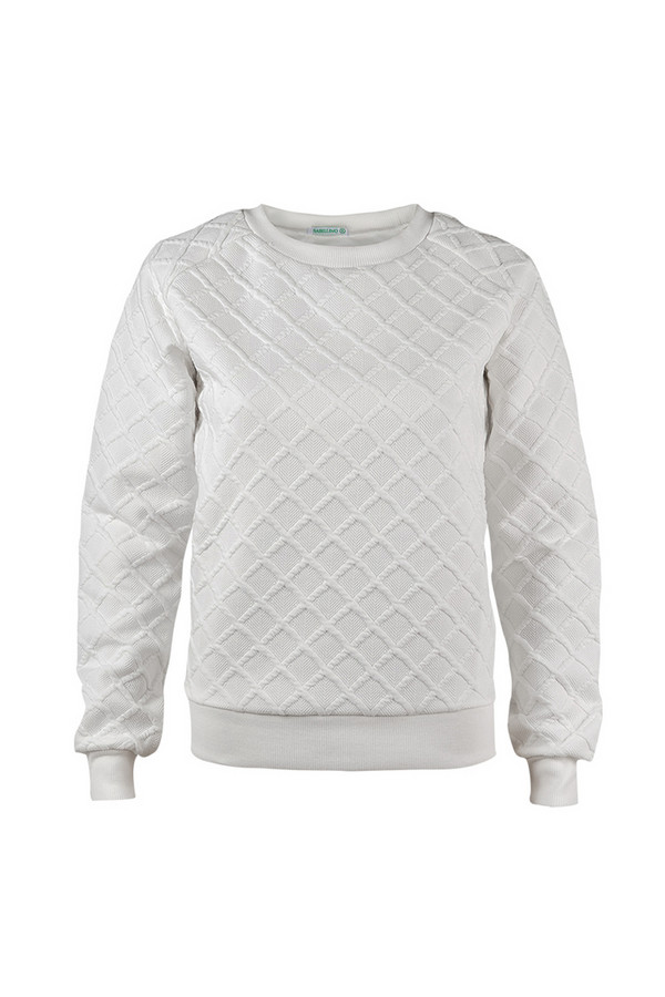 Пуловер SabellinoПуловеры<br><br><br>Размер RU: 46-48<br>Пол: Женский<br>Возраст: Взрослый<br>Материал: полиэстер 52%, хлопок 46%, спандекс 2%<br>Цвет: Белый