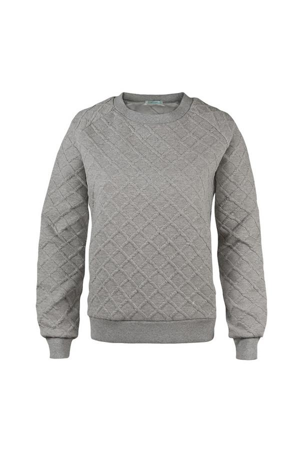 Пуловер SabellinoПуловеры<br><br><br>Размер RU: 44-46<br>Пол: Женский<br>Возраст: Взрослый<br>Материал: полиэстер 52%, хлопок 46%, спандекс 2%<br>Цвет: Серый