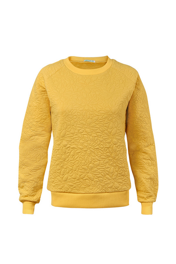 Пуловер SabellinoПуловеры<br><br><br>Размер RU: 46-48<br>Пол: Женский<br>Возраст: Взрослый<br>Материал: полиэстер 50%, хлопок 48%, спандекс 2%<br>Цвет: Жёлтый