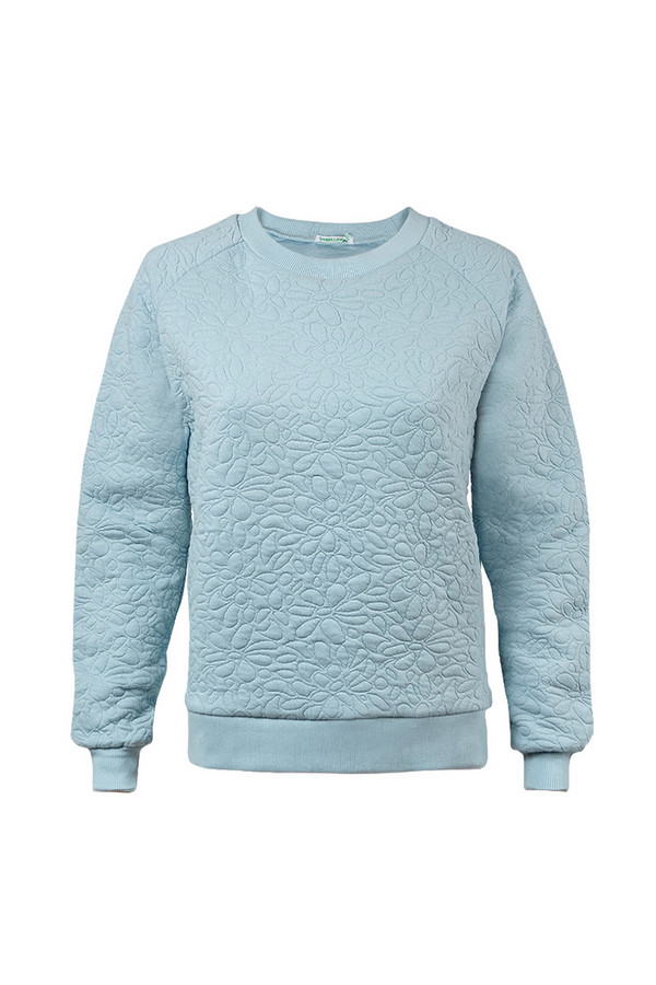 Пуловер SabellinoПуловеры<br><br><br>Размер RU: 48-50<br>Пол: Женский<br>Возраст: Взрослый<br>Материал: полиэстер 50%, хлопок 48%, спандекс 2%<br>Цвет: Голубой