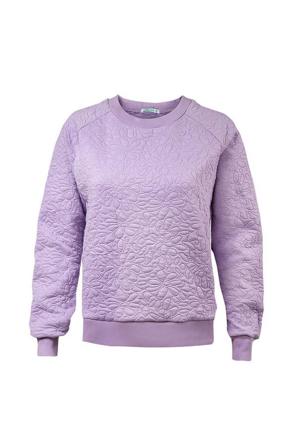 Пуловер SabellinoПуловеры<br><br><br>Размер RU: 44-46<br>Пол: Женский<br>Возраст: Взрослый<br>Материал: полиэстер 50%, хлопок 48%, спандекс 2%<br>Цвет: Сиреневый