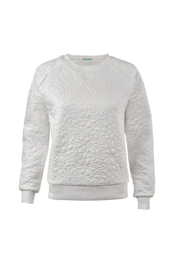 Пуловер SabellinoПуловеры<br><br><br>Размер RU: 46-48<br>Пол: Женский<br>Возраст: Взрослый<br>Материал: полиэстер 50%, хлопок 48%, спандекс 2%<br>Цвет: Белый