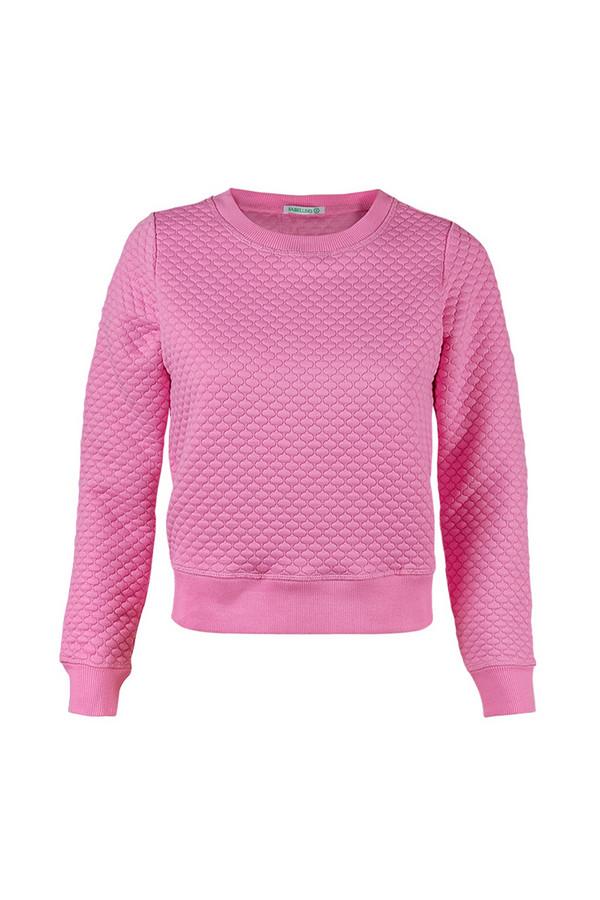 Пуловер SabellinoПуловеры<br><br><br>Размер RU: 44-46<br>Пол: Женский<br>Возраст: Взрослый<br>Материал: полиэстер 87%, спандекс 1%, иск.шелк 12%<br>Цвет: Розовый