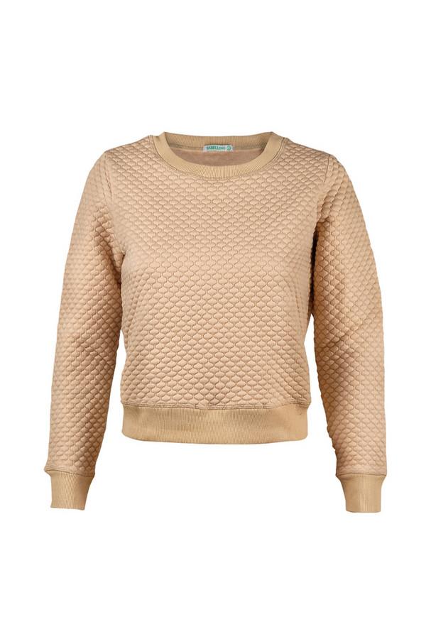Пуловер SabellinoПуловеры<br><br><br>Размер RU: 48-50<br>Пол: Женский<br>Возраст: Взрослый<br>Материал: полиэстер 87%, спандекс 1%, иск.шелк 12%<br>Цвет: Бежевый