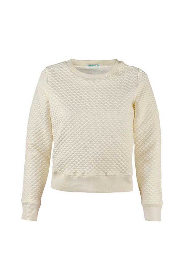 Пуловер SabellinoПуловеры<br><br><br>Размер RU: 48-50<br>Пол: Женский<br>Возраст: Взрослый<br>Материал: полиэстер 87%, спандекс 1%, иск.шелк 12%<br>Цвет: Белый