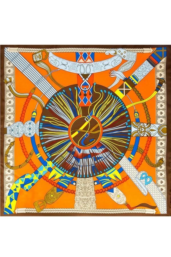 Платок SabellinoПлатки<br><br><br>Размер RU: 90 x 90<br>Пол: Женский<br>Возраст: Взрослый<br>Материал: шелк 100%<br>Цвет: Разноцветный