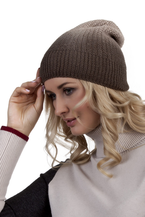Шапка SeebergerШапки<br>Стильная женская шапка Seeberger коричневого цвета с эффектом градиента и фактурным узором.<br><br>Размер RU: один размер<br>Пол: Женский<br>Возраст: Взрослый<br>Материал: шерсть 30%, полиакрил 70%<br>Цвет: Бежевый