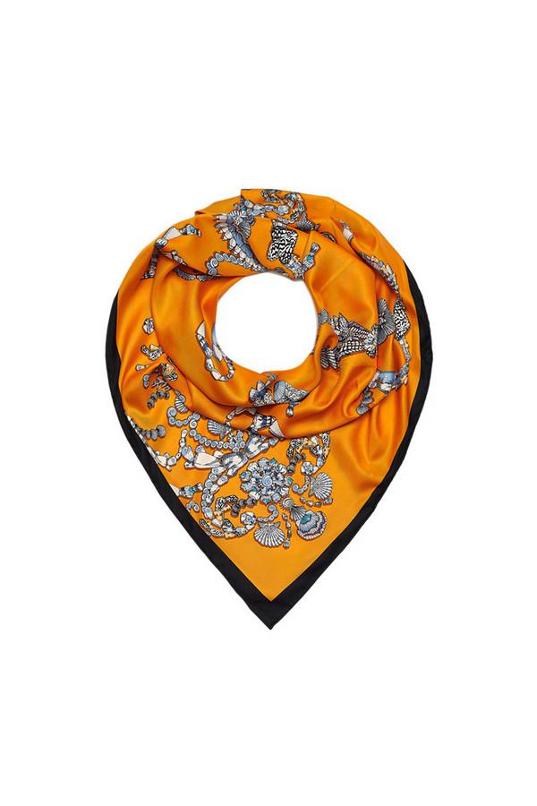 Платок SabellinoПлатки<br><br><br>Размер RU: 90 x 90<br>Пол: Женский<br>Возраст: Взрослый<br>Материал: полиэстер 100%<br>Цвет: Оранжевый