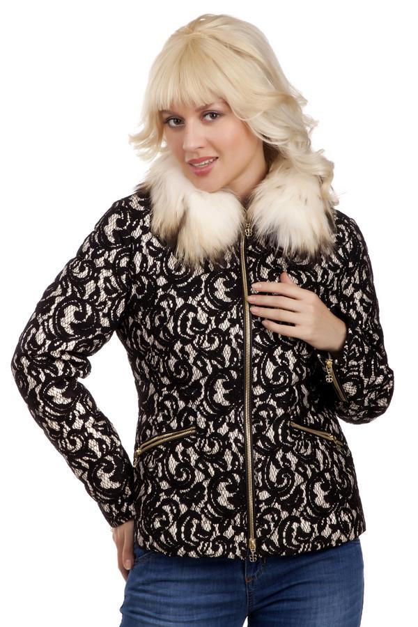 Куртка BaslerКуртки<br>Стильная куртка Basler невероятно элегантна. Несмотря на похолодание, вы можете оставаться модными благодаря оригинальности этого изделия. Центральная часть куртки, боковые карманы и манжеты застегиваются на золотистую молнию, сложное сочетание кружева с курточной тканью добавляет изысканности. Изделие дополняет съемный меховой воротник-стойка. Изделие выполнено из высококачественного материала.   Натуральный мех 100% енот.   Подкладка 100% полиамид.   Утеплитель 100% пух.<br><br>Размер RU: 42<br>Пол: Женский<br>Возраст: Взрослый<br>Материал: полиамид 22%, вискоза 51%, хлопок 27%, енот 100%, пух 100%<br>Цвет: Чёрный