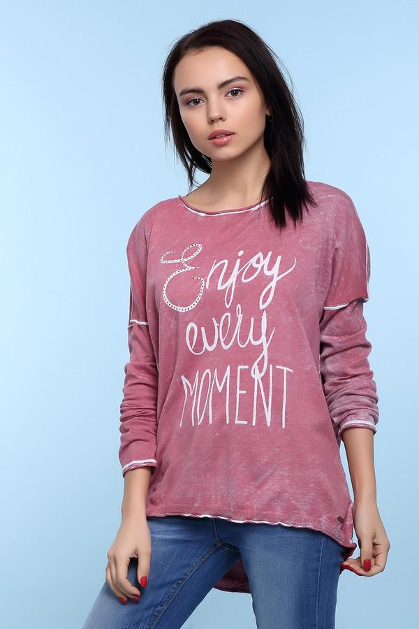 Пуловер Tom TailorПуловеры<br>Хлопковый розовый пуловер от бренда Tom Tailor прямого кроя. Изделие дополнено: u-образным вырезом горловины и длинными рукавами со спущенной линией плеча. Пуловер оформлен говорящим принтом и декоративными потертостями и эффектом состарености.<br><br>Размер RU: 40-42<br>Пол: Женский<br>Возраст: Взрослый<br>Материал: хлопок 100%<br>Цвет: Розовый