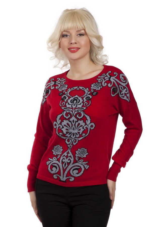 Пуловер Betty BarclayПуловеры<br>Женский красный пуловер Betty Barclay прилегающего кроя с оригинальным стильным вязанным серо-черным рисунком. Изделие дополнено: круглым вырезом и длинными рукавами. Пуловер без труда согреет в холодную погоду.<br><br>Размер RU: 50<br>Пол: Женский<br>Возраст: Взрослый<br>Материал: полиамид 25%, шерсть 25%, полиэстер 46%, кашемир 1%, альпака 3%<br>Цвет: Разноцветный