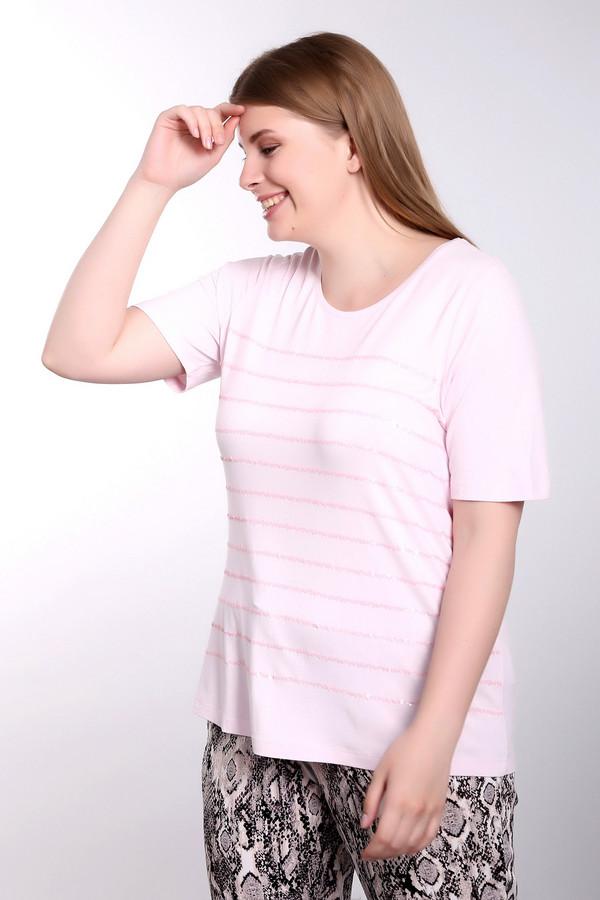 Футболка Betty BarclayФутболки<br><br><br>Размер RU: 46<br>Пол: Женский<br>Возраст: Взрослый<br>Материал: эластан 8%, вискоза 92%<br>Цвет: Розовый