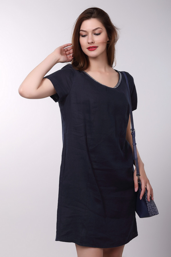 Платье Gerry WeberПлатья<br><br><br>Размер RU: 46<br>Пол: Женский<br>Возраст: Взрослый<br>Материал: лен 100%<br>Цвет: Синий
