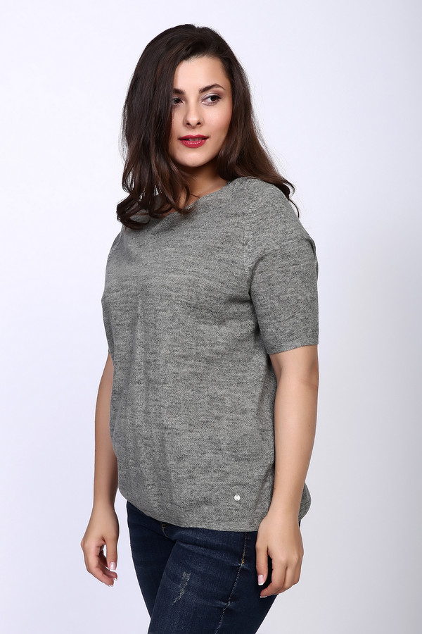 Пуловер Gerry WeberПуловеры<br><br><br>Размер RU: 48<br>Пол: Женский<br>Возраст: Взрослый<br>Материал: хлопок 100%<br>Цвет: Серый