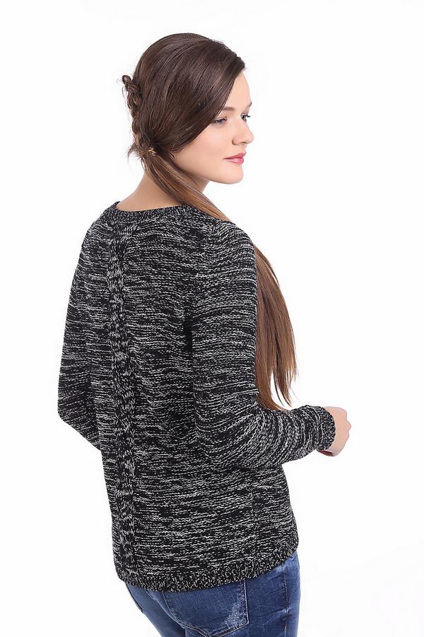 Пуловер QSПуловеры<br>Пуловер QS черно-белого цвета, выполненный в темных тонах. Изделие дополнено: круглым вырезом и длинными рукавами. Ворот, манжеты и нижний кант оформлены эластичной вязаной резинкой. Спинка декорирована объемным узором-косичка. Пуловер очень простой по виду и практичный.<br><br>Размер RU: 42-44<br>Пол: Женский<br>Возраст: Взрослый<br>Материал: хлопок 60%, полиакрил 40%<br>Цвет: Белый