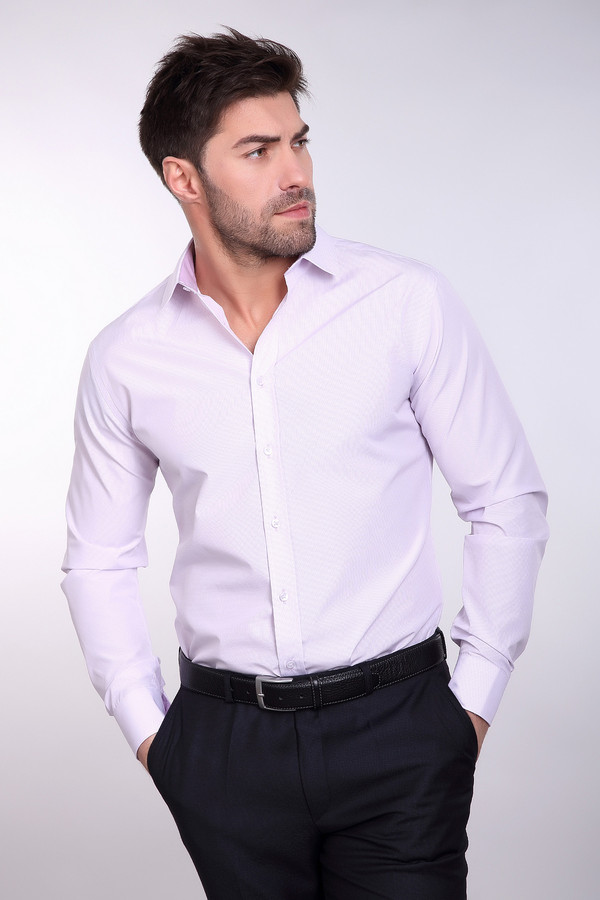Рубашка BAZIONIРубашки и сорочки<br><br><br>Размер RU: 39/176-182<br>Пол: Мужской<br>Возраст: Взрослый<br>Материал: полиэстер 20%, хлопок 80%<br>Цвет: Сиреневый