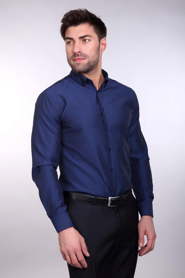 Рубашка BAZIONIРубашки и сорочки<br><br><br>Размер RU: 42/170-176<br>Пол: Мужской<br>Возраст: Взрослый<br>Материал: полиэстер 20%, хлопок 80%<br>Цвет: Синий