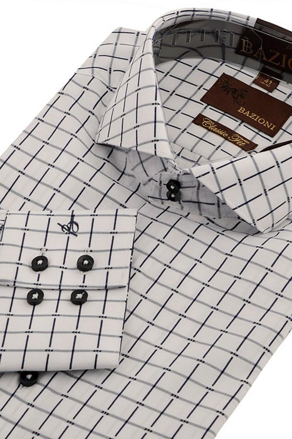 Рубашка BAZIONIРубашки и сорочки<br><br><br>Размер RU: 42/176-182<br>Пол: Мужской<br>Возраст: Взрослый<br>Материал: полиэстер 20%, хлопок 80%<br>Цвет: Белый