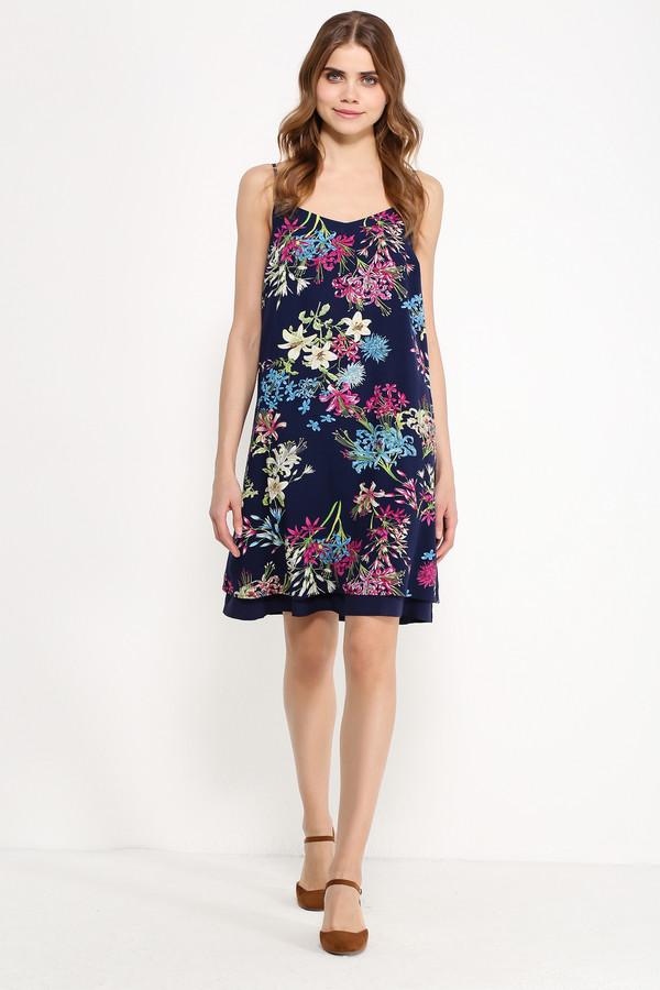 Платье FINN FLAREПлатья<br>Скоро настанет сезон сарафанов! Подготовьтесь к нему уже сейчас – вместе с нашими стильными и женственными моделями из летней коллекции! Такое платье на регулируемых бретельках порадует вас цветочными принтами, которые расположились на тёмно-синем фоне. Модель прямого кроя, чуть расширяющегося к низу. Для более привлекательного силуэта можно опоясать сарафан ремешком (не идёт в комплекте).<br><br>Размер RU: 50<br>Пол: Женский<br>Возраст: Взрослый<br>Материал: вискоза 100%<br>Цвет: Синий