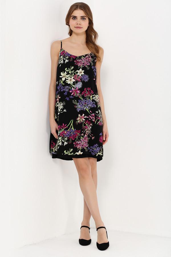 Платье FINN FLAREПлатья<br>Скоро настанет сезон сарафанов! Подготовьтесь к нему уже сейчас – вместе с нашими стильными и женственными моделями из летней коллекции! Такое платье на регулируемых бретельках порадует вас цветочными принтами, которые расположились на чёрном фоне. Модель прямого кроя, чуть расширяющегося к низу. Для более привлекательного силуэта можно опоясать сарафан ремешком (не идёт в комплекте).<br><br>Размер RU: 44<br>Пол: Женский<br>Возраст: Взрослый<br>Материал: вискоза 100%<br>Цвет: Разноцветный