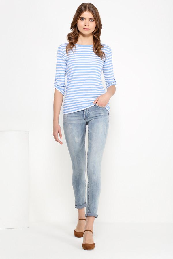 Футболка FINN FLAREФутболки<br>Полосатые топы летом уже стали классическим выбором. Дело все в том, что такая модель – компромисс между комфортом и стилем. Чуть приталенная и с регулируемыми рукавами, эта фуфайка будет гармонично смотреться с джинсами, брюками, юбками и шортами в стиле casual. Выполнена из качественного и износостойкого хлопка.<br><br>Размер RU: 44<br>Пол: Женский<br>Возраст: Взрослый<br>Материал: хлопок 100%<br>Цвет: Разноцветный