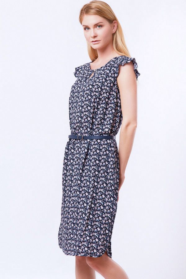Платье FINN FLAREПлатья<br><br><br>Размер RU: 44<br>Пол: Женский<br>Возраст: Взрослый<br>Материал: вискоза 100%<br>Цвет: Синий