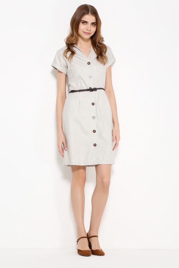 Купить Платье FINN FLARE, Вьетнам, Белый, лен 55%, вискоза 45%