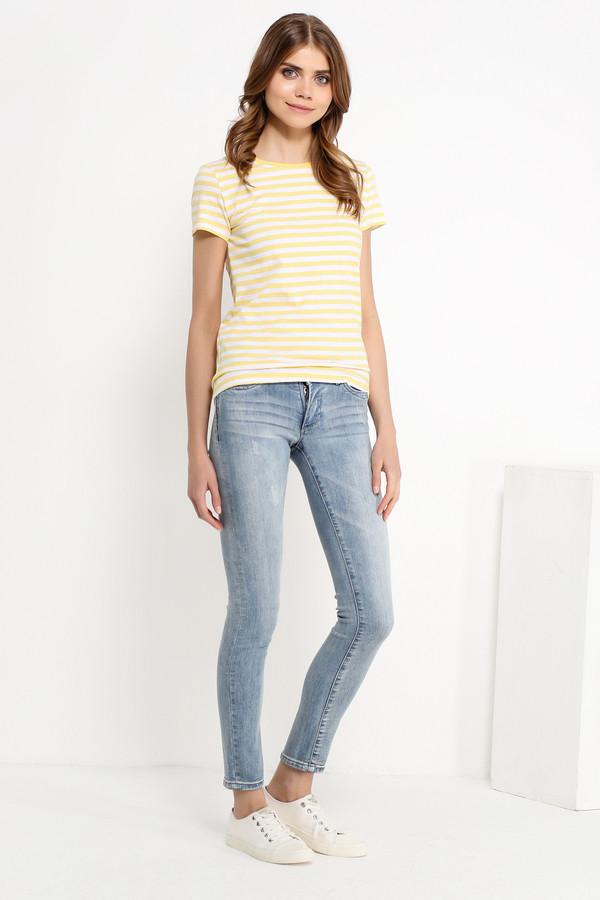 Футболка FINN FLAREФутболки<br>Полосатые топы летом уже стали классическим выбором. Дело все в том, что такая модель – компромисс между комфортом и стилем. Чуть приталенная и с короткими рукавами, эта футболка будет гармонично смотреться с джинсами, брюками, юбками и шортами в стиле casual. Выполнена из качественного и износостойкого хлопка.<br><br>Размер RU: 56<br>Пол: Женский<br>Возраст: Взрослый<br>Материал: хлопок 100%<br>Цвет: Жёлтый