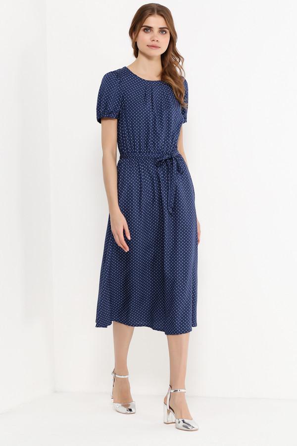 Платье FINN FLAREПлатья<br>Достаточно ли в вашем летнем гардеробе женственных и лёгких платьев? Представляем вам отличную модель, созданную для романтичных натур. Платье красивого тёмно-синего цвета, выполненное в мелкий цветочный принт, с рукавами-колокольчиками и поясом для более приталенного силуэта украсит любую женщину. Выполнена модель из приятной на ощупь вискозы.<br><br>Размер RU: 48<br>Пол: Женский<br>Возраст: Взрослый<br>Материал: вискоза 100%<br>Цвет: Синий