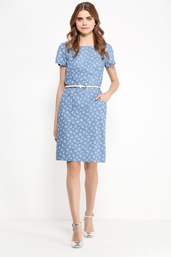 Платье FINN FLAREПлатья<br>Платья из денима всё ещё на пике популярности, и это вполне объяснимо: лёгкая ткань может похвастаться невероятной практичностью и комфортом, что важно для жаркого сезона. Представленная модель длиной до колена и с короткими рукавами отлично впишется в ваш повседневный гардероб. Оно выполнено в мелкие белые цветочки, расположенные на светло-голубом фоне. Платье можно опоясать ремешком, который идет в комплекте.<br><br>Размер RU: 52<br>Пол: Женский<br>Возраст: Взрослый<br>Материал: хлопок 100%<br>Цвет: Голубой