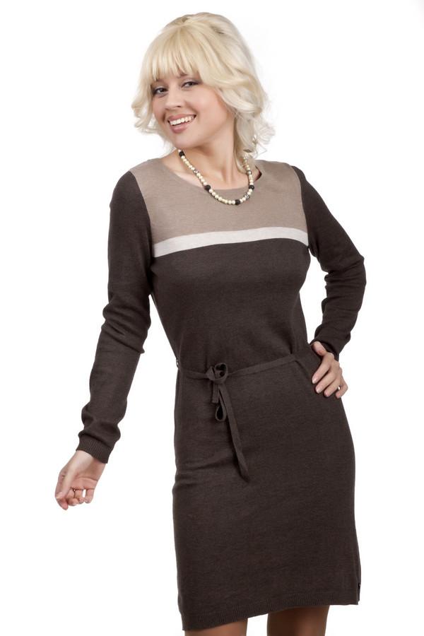 Платье LerrosПлатья<br>Милое, удобное платье в спокойных оттенках подойдет как на каждый день, так и для вечеринок. Выполнено из полностью натуральных материалов, хлопка и вискозы. Длинные рукава, длина самого платья – до колена. Украшено тонким пояском, белой и бежевой полосами на груди, а также вшитой молнией сзади на спинке. Удобное и приятное к телу платье станет отличным предметом гардероба любой женщины.<br><br>Размер RU: 44<br>Пол: Женский<br>Возраст: Взрослый<br>Материал: хлопок 60%, вискоза 40%<br>Цвет: Разноцветный