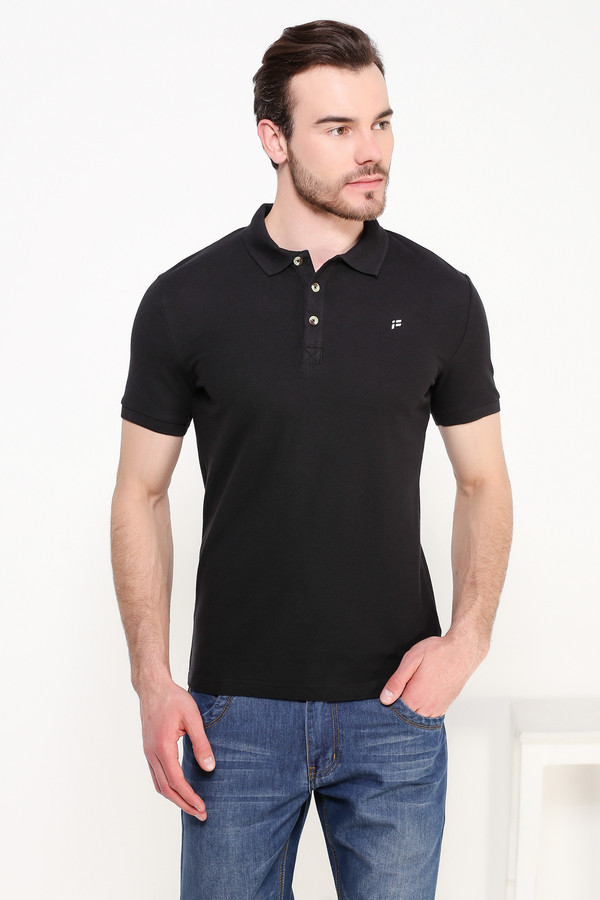 Мужские рубашки с коротким рукавом FINN FLAREКороткий рукав<br><br><br>Размер RU: 56<br>Пол: Мужской<br>Возраст: Взрослый<br>Материал: хлопок 100%<br>Цвет: Чёрный