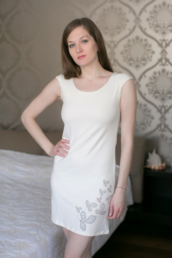 Платье MARUSЯПлатья<br><br><br>Размер RU: 44<br>Пол: Женский<br>Возраст: Взрослый<br>Материал: эластан 8%, хлопок 92%<br>Цвет: Белый