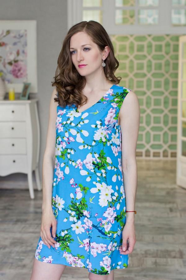 Платье MARUSЯПлатья<br><br><br>Размер RU: 48<br>Пол: Женский<br>Возраст: Взрослый<br>Материал: вискоза 100%<br>Цвет: Голубой