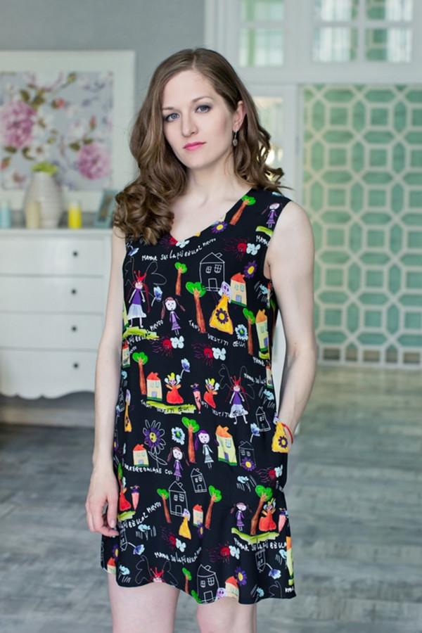 Платье MARUSЯПлатья<br><br><br>Размер RU: 48<br>Пол: Женский<br>Возраст: Взрослый<br>Материал: вискоза 100%<br>Цвет: Чёрный