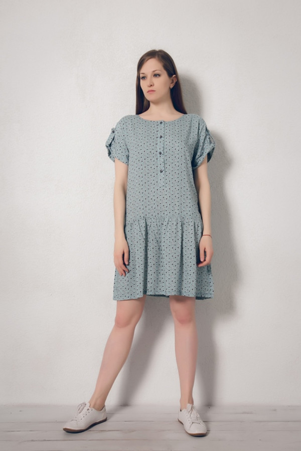 Платье MARUSЯПлатья<br><br><br>Размер RU: 46<br>Пол: Женский<br>Возраст: Взрослый<br>Материал: вискоза 100%<br>Цвет: Голубой