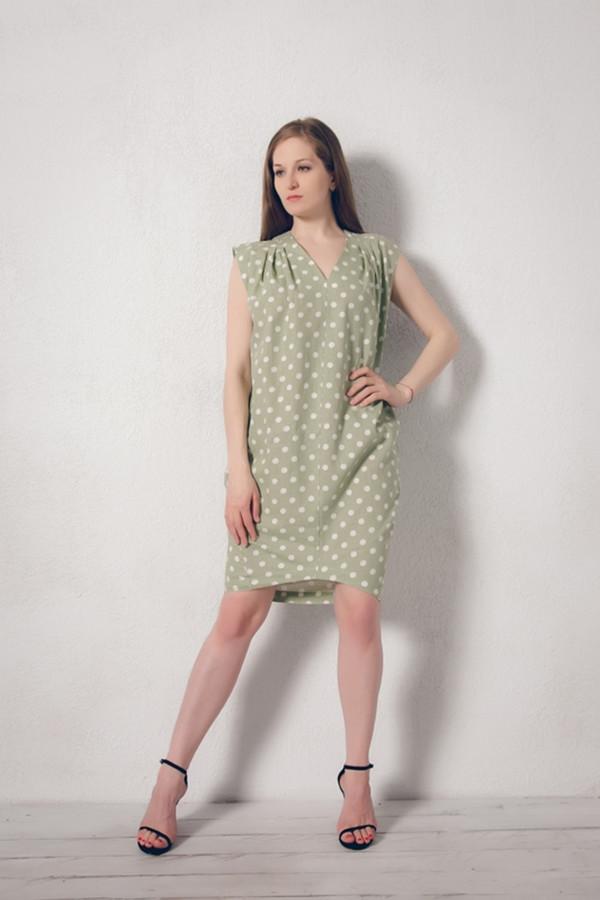Платье MARUSЯПлатья<br><br><br>Размер RU: 52<br>Пол: Женский<br>Возраст: Взрослый<br>Материал: лен 100%<br>Цвет: Зелёный