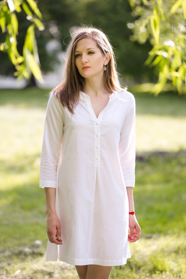 Платье MARUSЯПлатья<br><br><br>Размер RU: 46<br>Пол: Женский<br>Возраст: Взрослый<br>Материал: хлопок 100%<br>Цвет: Белый
