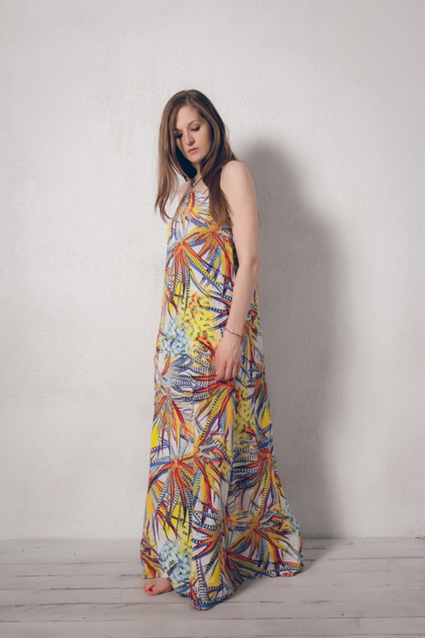 Платье MARUSЯПлатья<br><br><br>Размер RU: 50<br>Пол: Женский<br>Возраст: Взрослый<br>Материал: вискоза 100%<br>Цвет: Разноцветный