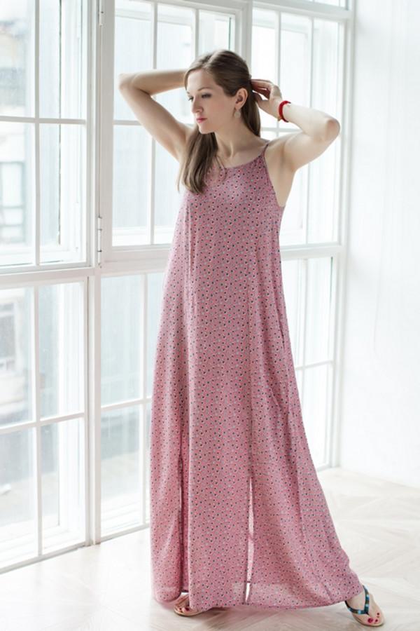 Платье MARUSЯПлатья<br><br><br>Размер RU: 50<br>Пол: Женский<br>Возраст: Взрослый<br>Материал: вискоза 100%<br>Цвет: Розовый