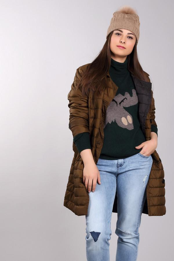 Пальто Tom TailorПальто<br>Стеганое однобортное пальто Tom Tailor выполнено из высококачественного материала зелено-коричневого цвета. Центральная часть изделия застегивается на пуговицы. Модель дополнена эффектной кокеткой, двумя боковыми карманами, на талии расположен - широкий пояс, что позволит без труда подчеркнуть линию талии. Пальто с легкостью дополнит ваш повседневный образ.  В качестве подкладки и утеплителя использован 100% полиэстер.<br><br>Размер RU: 46-48<br>Пол: Женский<br>Возраст: Взрослый<br>Материал: полиэстер 100%<br>Цвет: Коричневый