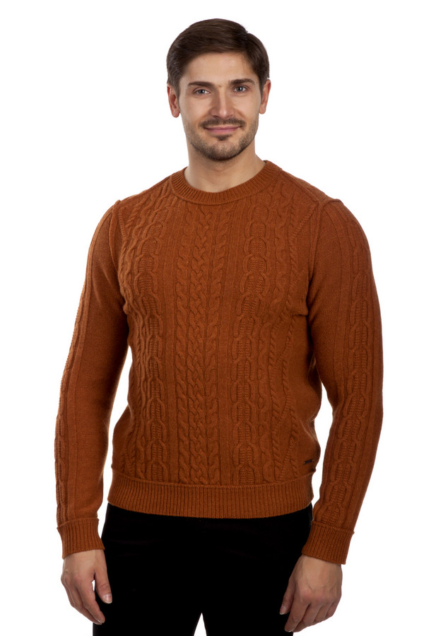 Джемпер Boss OrangeДжемперы<br>Оранжевый джемпер бренда Boss Orange прямого кроя с вязанным фактурным узором. Изделие дополнено: круглым вырезом под горло и длинными рукавами. Ворот, манжеты и нижний кант оформлены трикотажной эластичной резинкой. Джемпер выполнен из натуральной шерстяной пряжи приятной на ощупь.<br><br>Размер RU: 46<br>Пол: Мужской<br>Возраст: Взрослый<br>Материал: шерсть 100%<br>Цвет: Оранжевый