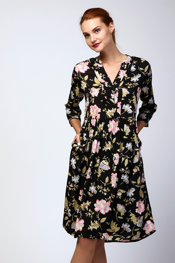 Платье Penny Black GreyПлатья<br><br><br>Размер RU: 40<br>Пол: Женский<br>Возраст: Взрослый<br>Материал: вискоза 100%, Состав_подкладка полиэстер 100%<br>Цвет: Разноцветный
