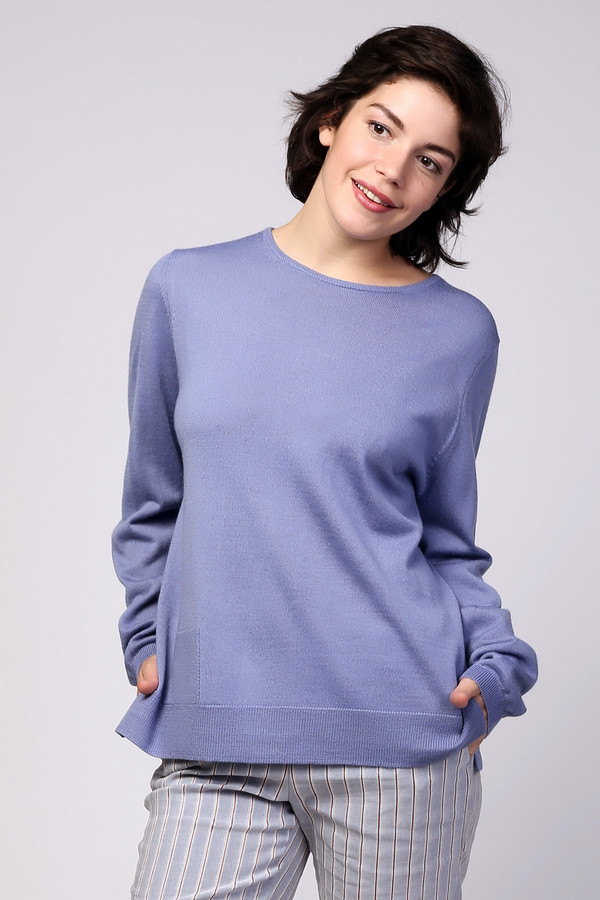 Пуловер PezzoПуловеры<br><br><br>Размер RU: 44<br>Пол: Женский<br>Возраст: Взрослый<br>Материал: шерсть 50%, полиакрил 50%<br>Цвет: Сиреневый