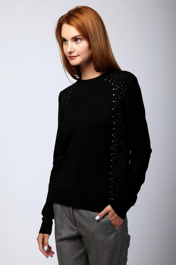 Пуловер PezzoПуловеры<br><br><br>Размер RU: 46<br>Пол: Женский<br>Возраст: Взрослый<br>Материал: вискоза 80%, нейлон 20%<br>Цвет: Чёрный