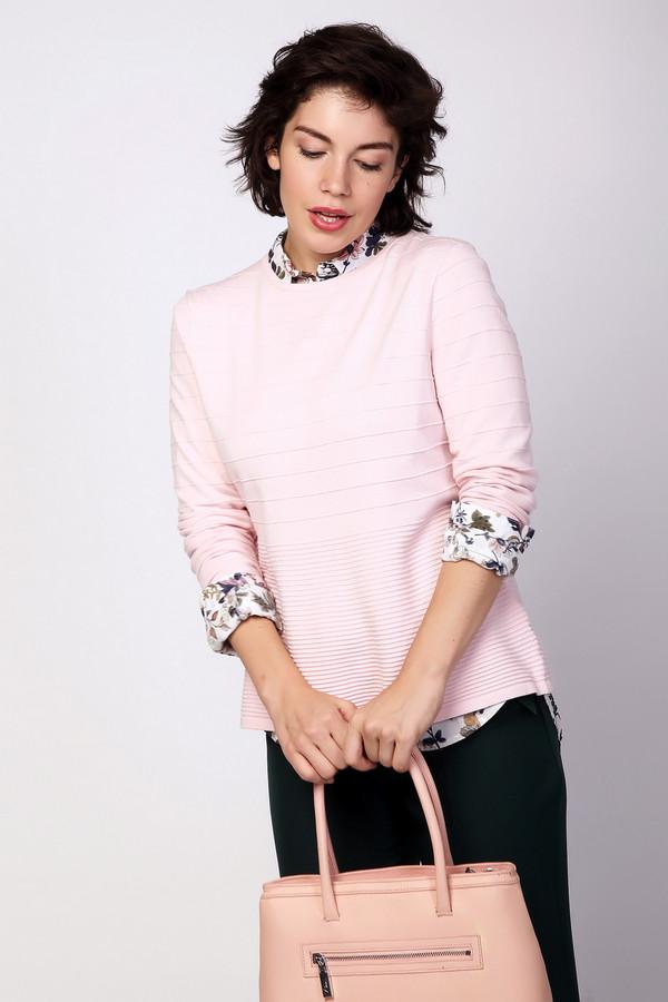 Пуловер PezzoПуловеры<br><br><br>Размер RU: 46<br>Пол: Женский<br>Возраст: Взрослый<br>Материал: полиэстер 22%, вискоза 78%<br>Цвет: Розовый