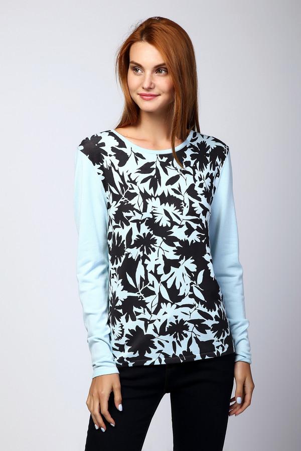 Пуловер PezzoПуловеры<br>Мягкий нежно-голубой пуловер от бренда Pezzo прямого кроя. Выполнен из приятного на ощупь вискозного трикотажа с добавлением нейлона. Изделие дополнено однотонными руками и круглым воротом. Пуловер украшен контрастным цветочным узором.<br><br>Размер RU: 42<br>Пол: Женский<br>Возраст: Взрослый<br>Материал: вискоза 80%, нейлон 20%<br>Цвет: Разноцветный