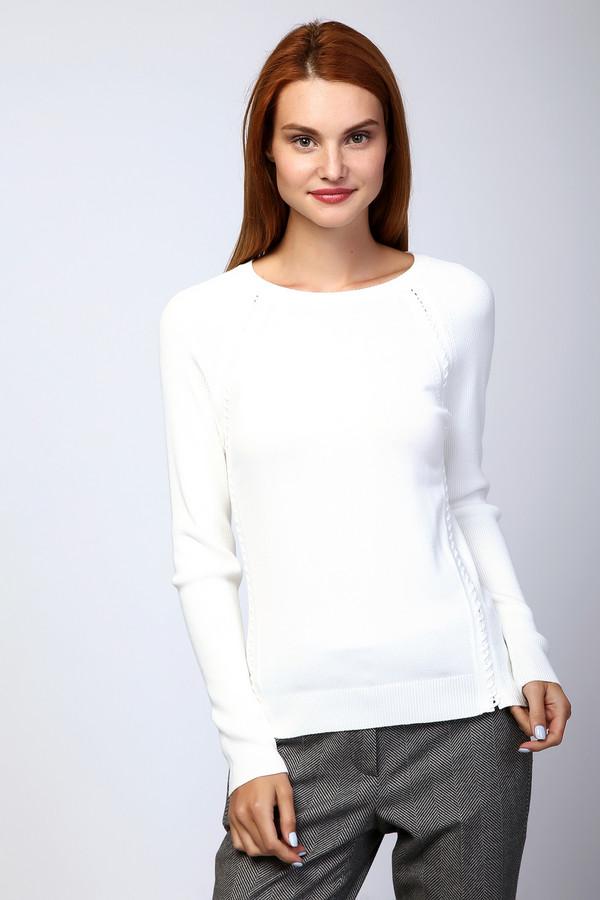 Пуловер PezzoПуловеры<br>Белый пуловер от бренда Pezzo прилегающего кроя выполнен из приятного на ощупь трикотажа. Изделие дополнено круглом воротом и длинными рукавами реглан. Ворот, манжеты и нижний кант оформлены эластичной резинкой. Боковой шов декорирован плетением. Пуловер является базовым вариантом, который гармонично смотрится как с джинсами, так и с брюками.