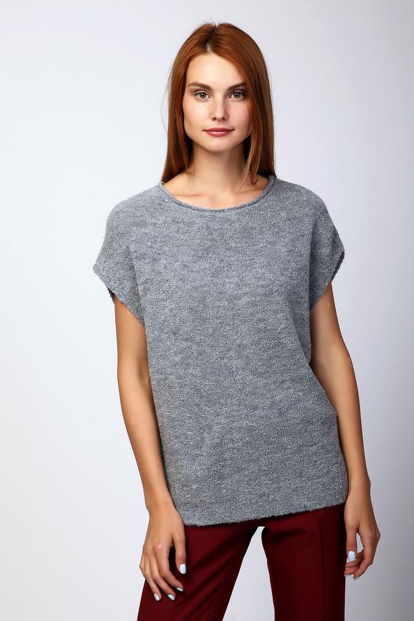 Пуловер PezzoПуловеры<br>Пуловер женский серого цвета фирмы Pezzo. Модель выполнена прямым фасоном. Изделие дополнено округлым воротом, короткими рукавами реглан. Ткань состоит из 20% нейлона, 12% шерсти, 68% акрил. Комбинировать можно с различными брюками.